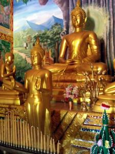 Buddha Statues at Wat Pa Lao Buddhadham in Rush, New York