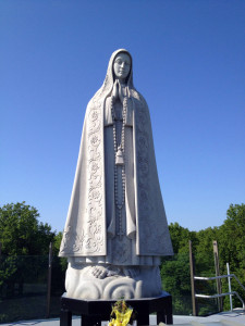 Statue at the Shrine to Our Lady of Fatima in Lewiston, New York