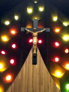 Cross Above Reardos in St. Januarius Church in Naples