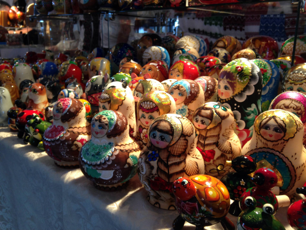 Matryoshka dolls at the Ukrainian Fest at St. Josaphat's Church in Rochester, New York