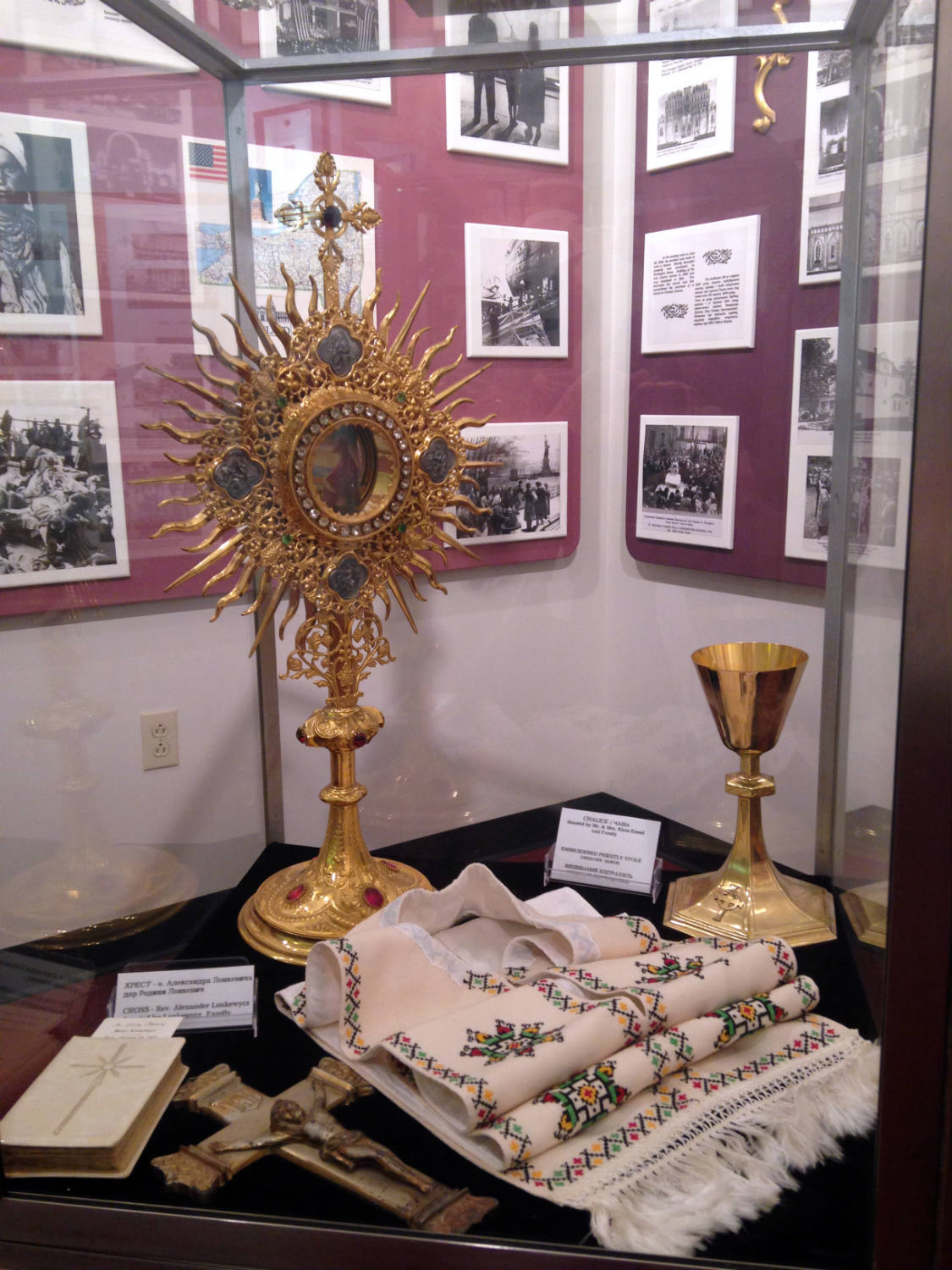 Museum Artifacts at St. Josaphat's Church in Rochester, NY