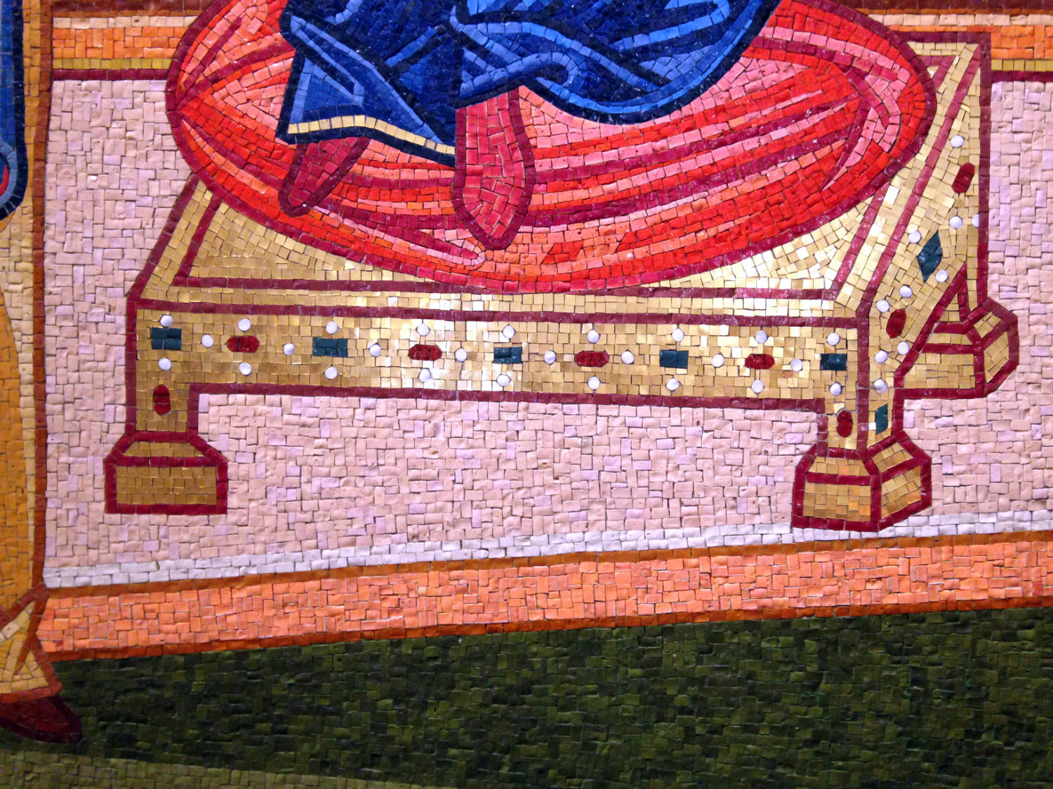 Detail of Tiles in Mural at St. Josaphat's Church