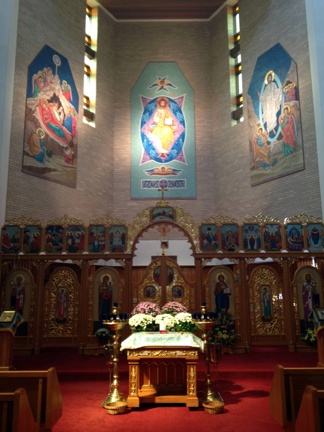 Iconostasis in St. Josaphat's Church in Rochester