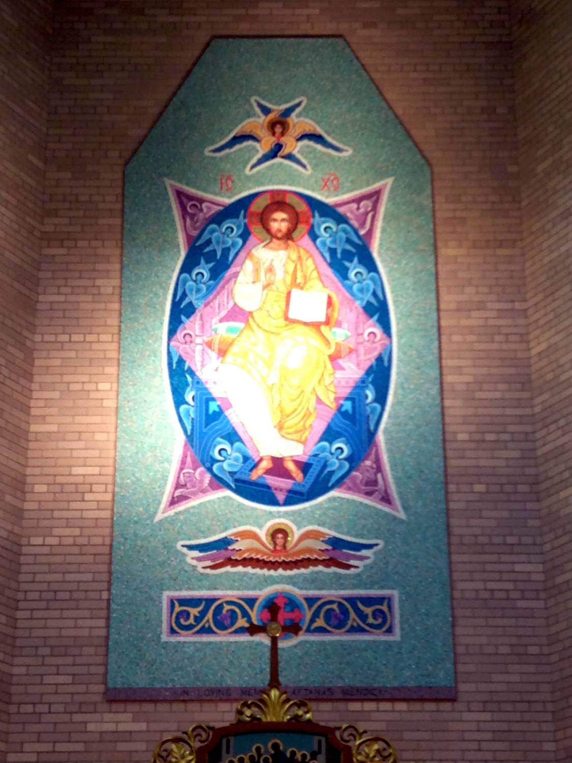 Tile Mural Shrine in St. Josaphat's Church in Rochester, NY