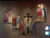 Tile Mural Shrine in St. Josaphat's Church in Rochester, NY