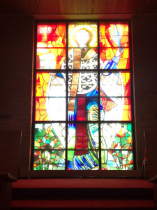 Front Stained Glass at St. Josaphat's Church in Rochester