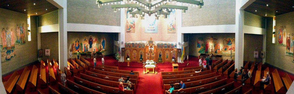 Panoramic View of the Nave of Rochester's St. Josaphat's Church from Balcony