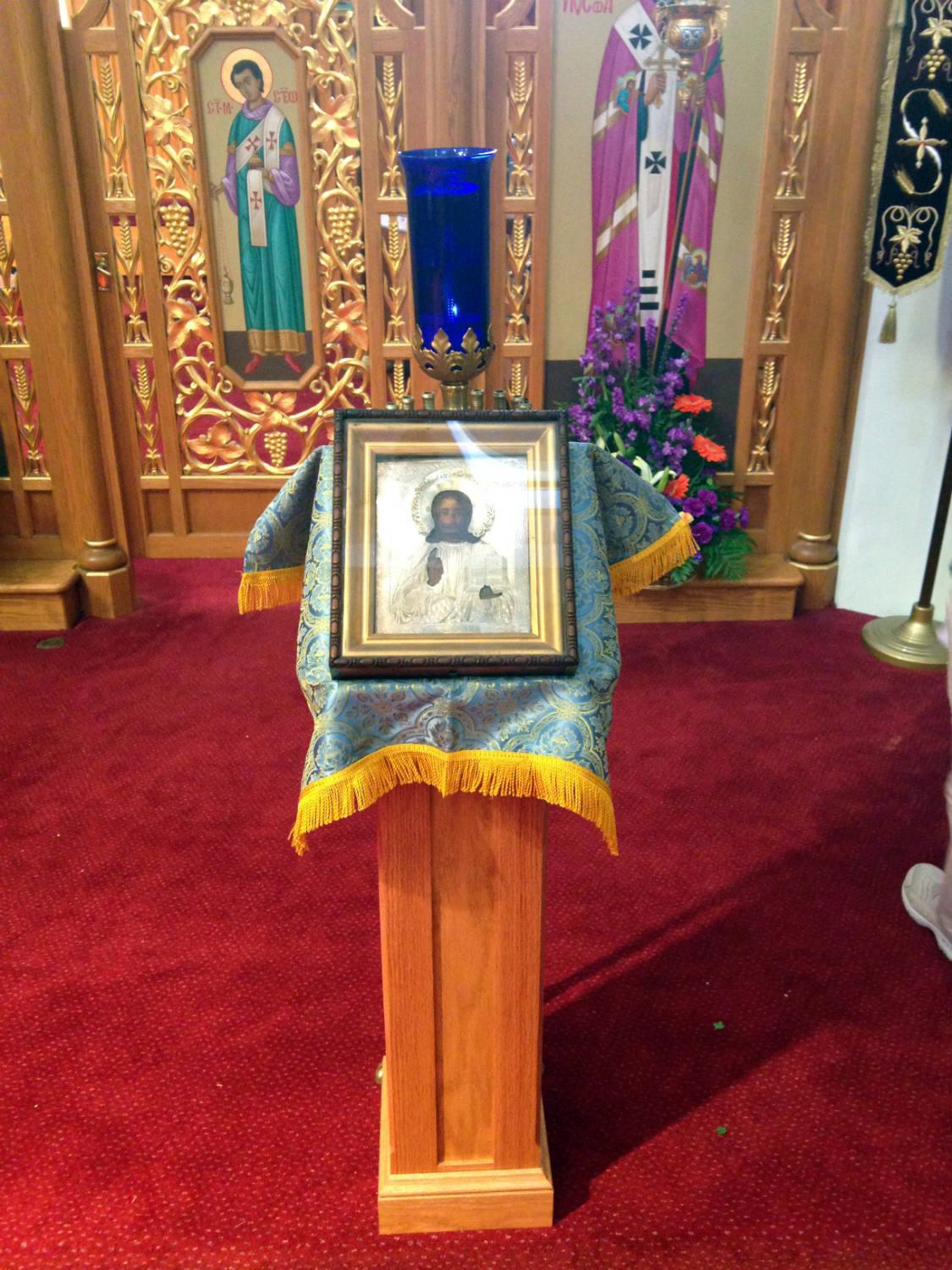 Icon at St. Josaphat's Ukrainian Church in Rochester, NY