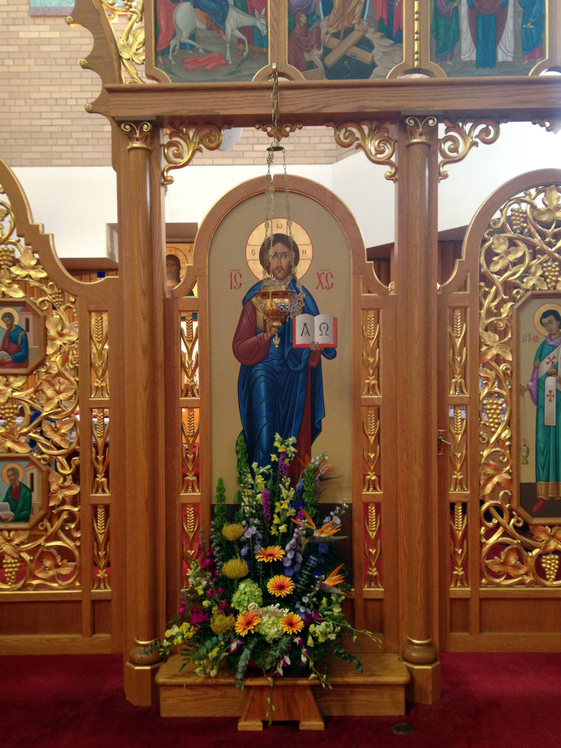 Iconostasis in St. Josaphat's Ukrainian Church in Rochester