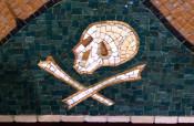 Tile Mural Skull and Crossbones at St. Josaphat's Church in Rochester