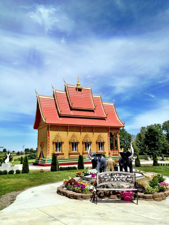 Wat Pa Lao Buddhadham Buddhist Temple in Rush, New York