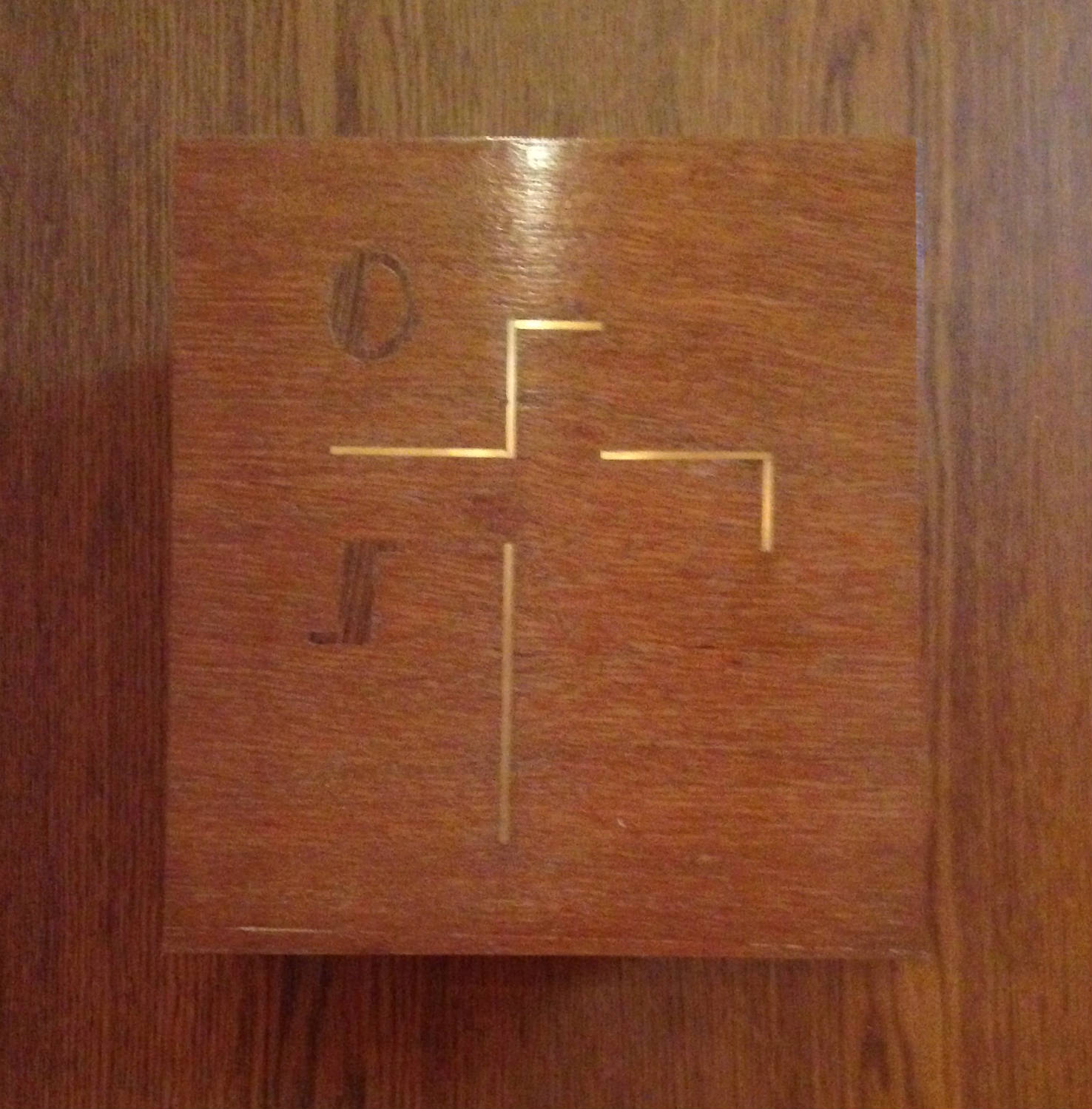 Religious Symbols in Woodwork at former St. Michael's Mission in Conesus, New York
