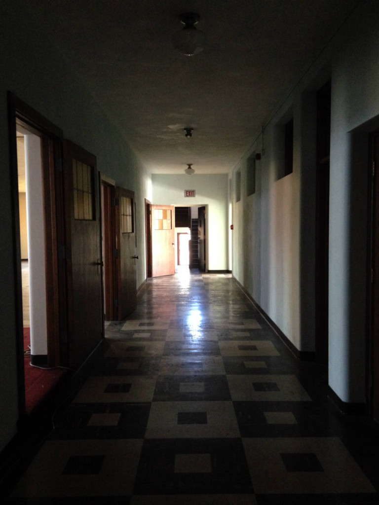Hallway in former St. Michael's Mission in Conesus, New York