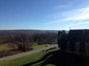 Looking East from atop St. Michael's Mission in Conesus, NY