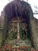 Cross in Grotto in Conesus, NY