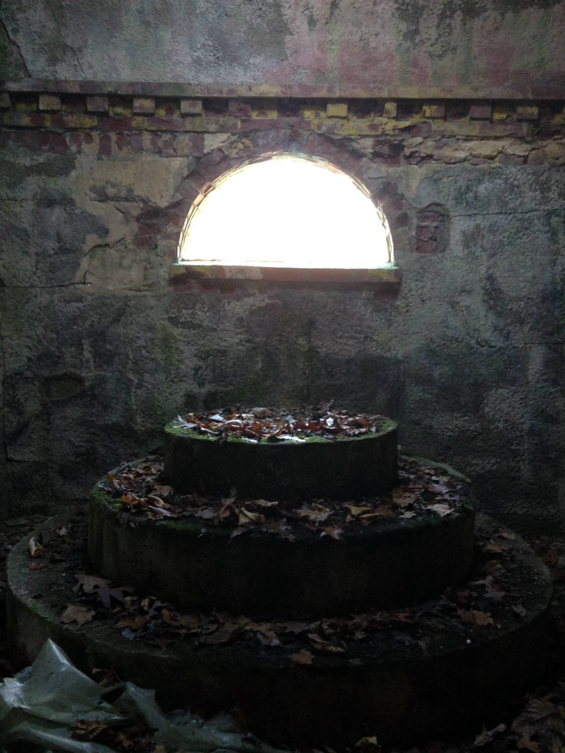 Inside a Grotto at the former St. Michael's Mission in Conesus, NY