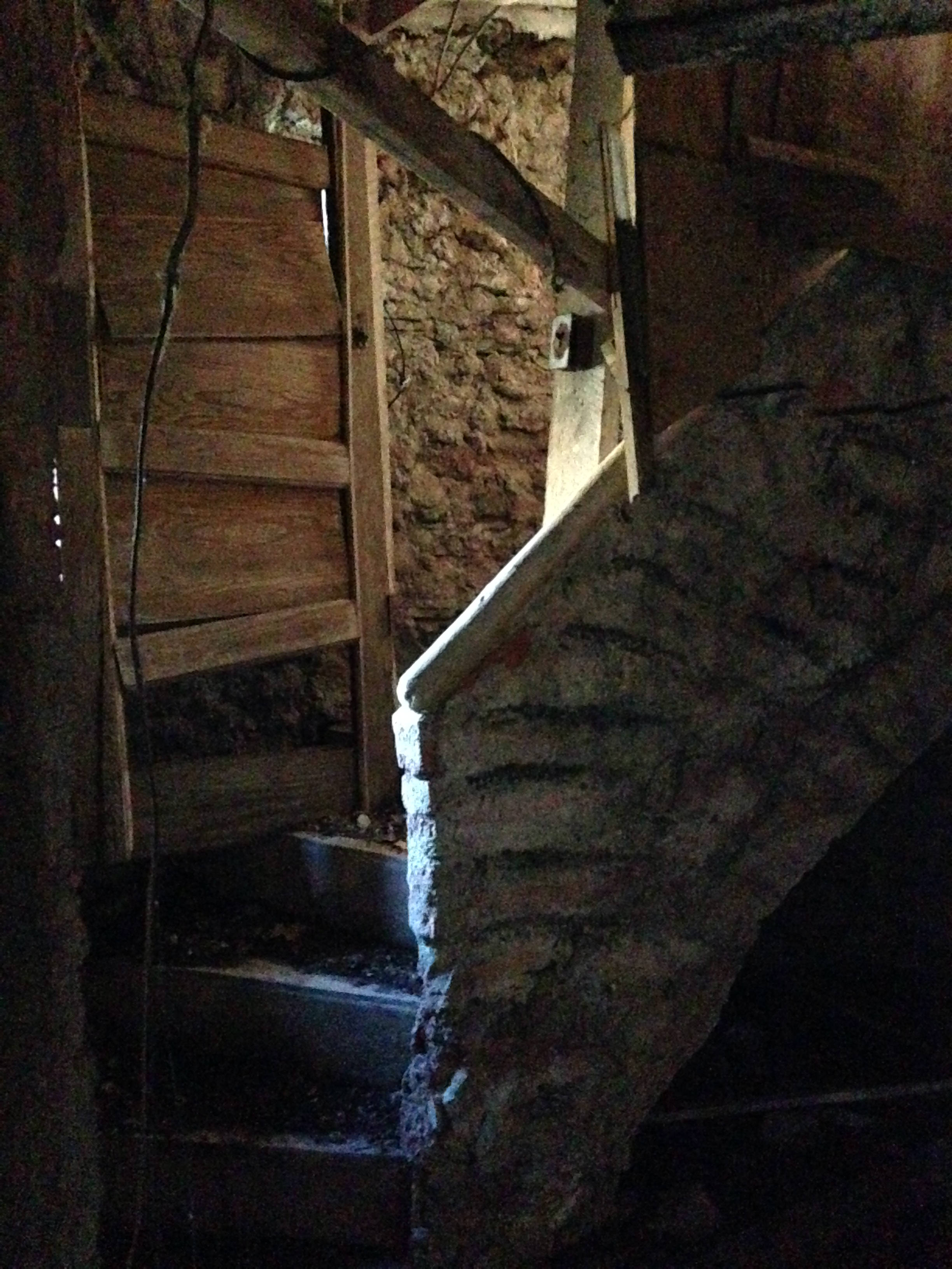 Stairs to second floor in Grotto in Conesus