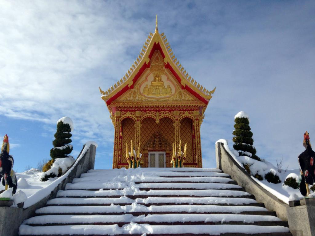 Wat Pa Lao Buddhadham in Rush, New York