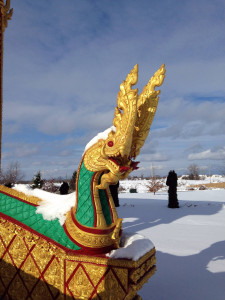 Dragon at the Wat Pa Lao Buddhadham in Rush, NY