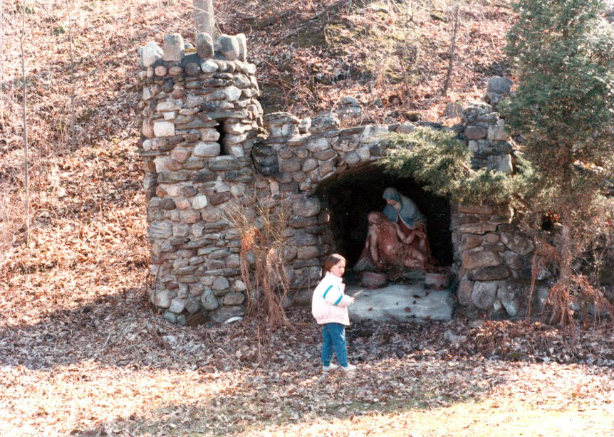 Jesus and Mary Magdalene in Grotto at St. Michael's Mission in Conesus