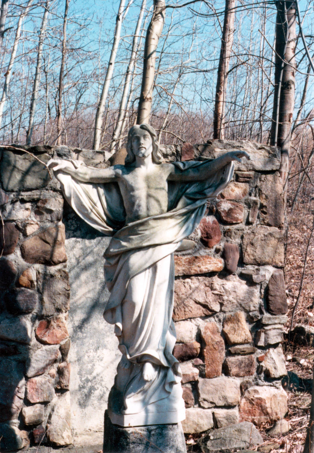 Jesus and Grotto at St. Michael's Mission in Conesus