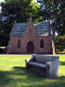 Mt. Albion Cemetery Ingersoll Bench and Chapel