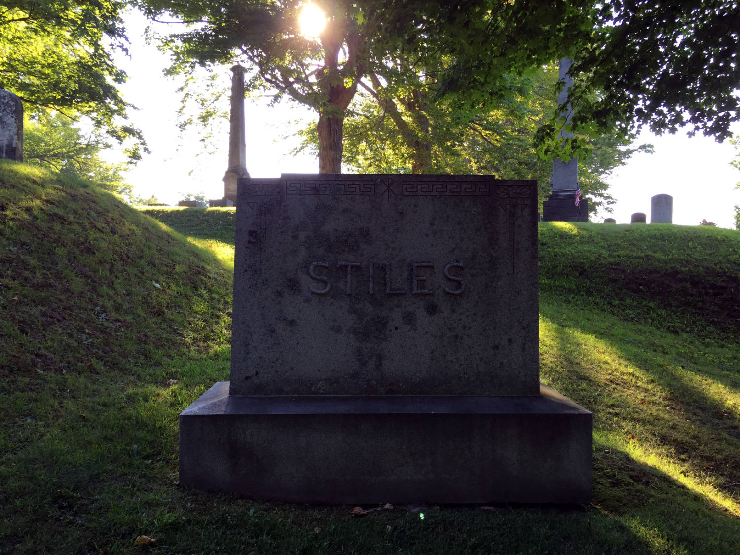 Stiles Marker in Mt. Albion Cemetery in Orleans County