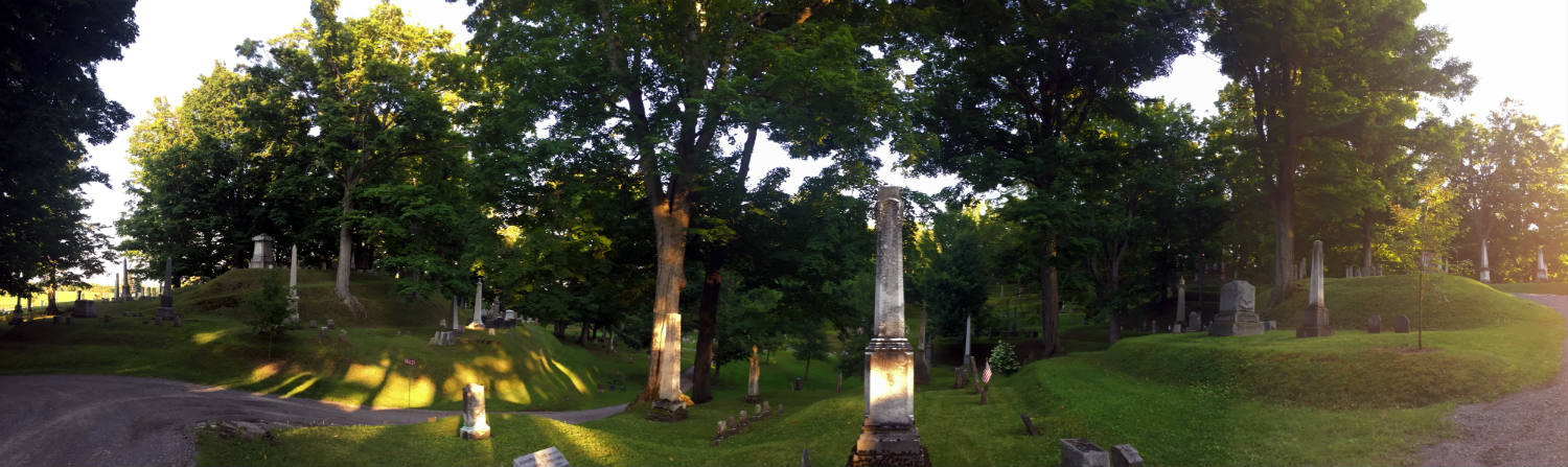 Panoramic View of Mt. Albion Cemetery in Orleans County