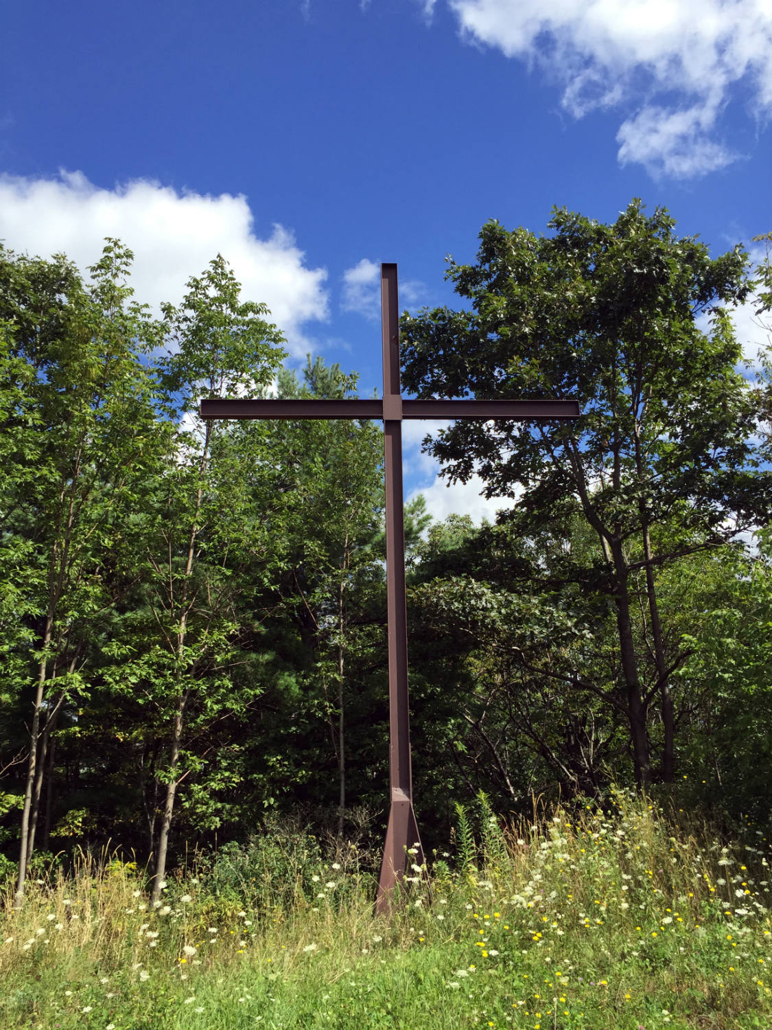 The Metal Cross on Calvary Hill in Wayland