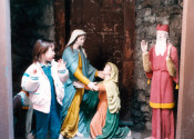 Touchdown and Cardinal in Grotto at St. Michael's Mission in Conesus