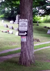 Scottsburg Union Cemetery Sign