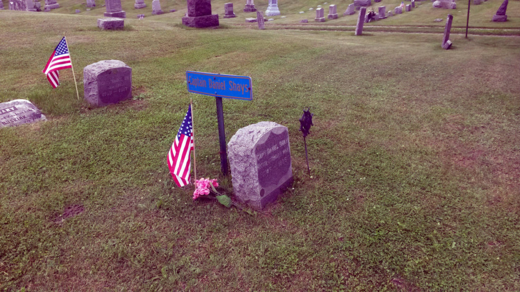 Captain Daniel Shays Grave in Conesus