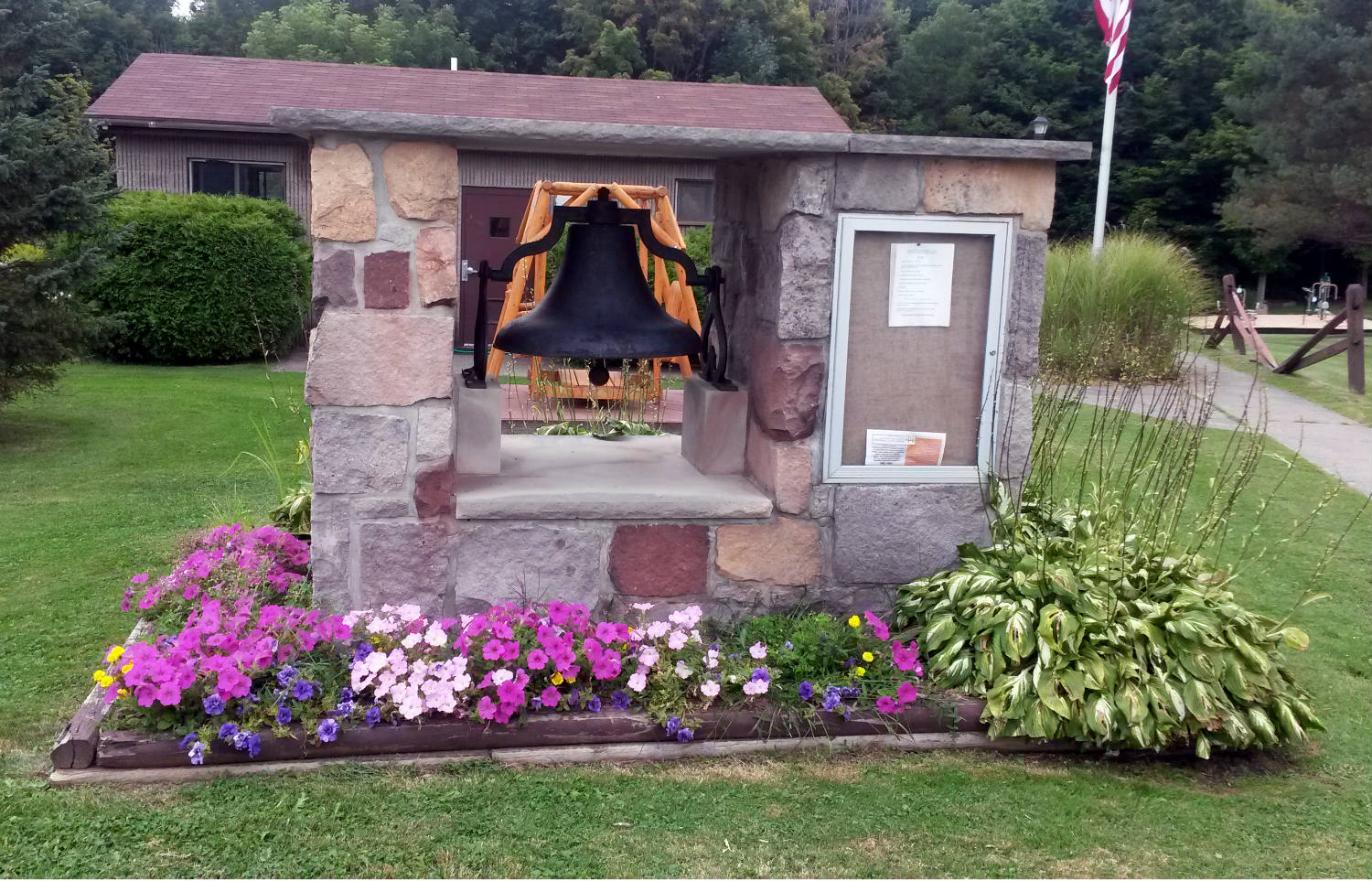 Bell in Ricky Greene Memorial Park in Conesus