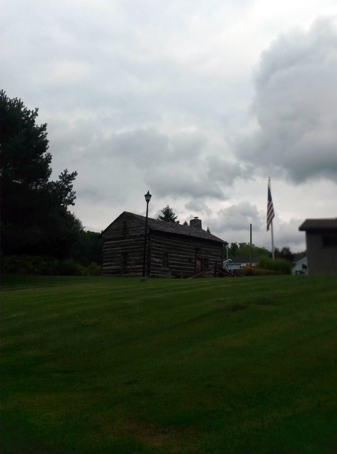 Log Cabin in Ricky Greene Memorial Park in Conesus