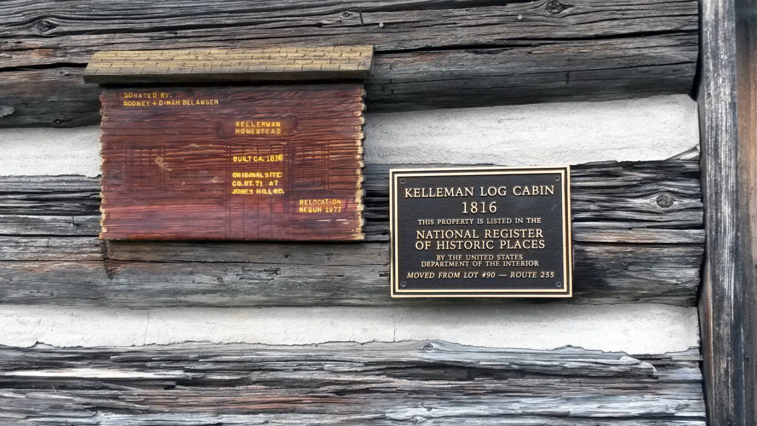 Kelleman Log Cabin in Ricky Greene Memorial Park in Conesus