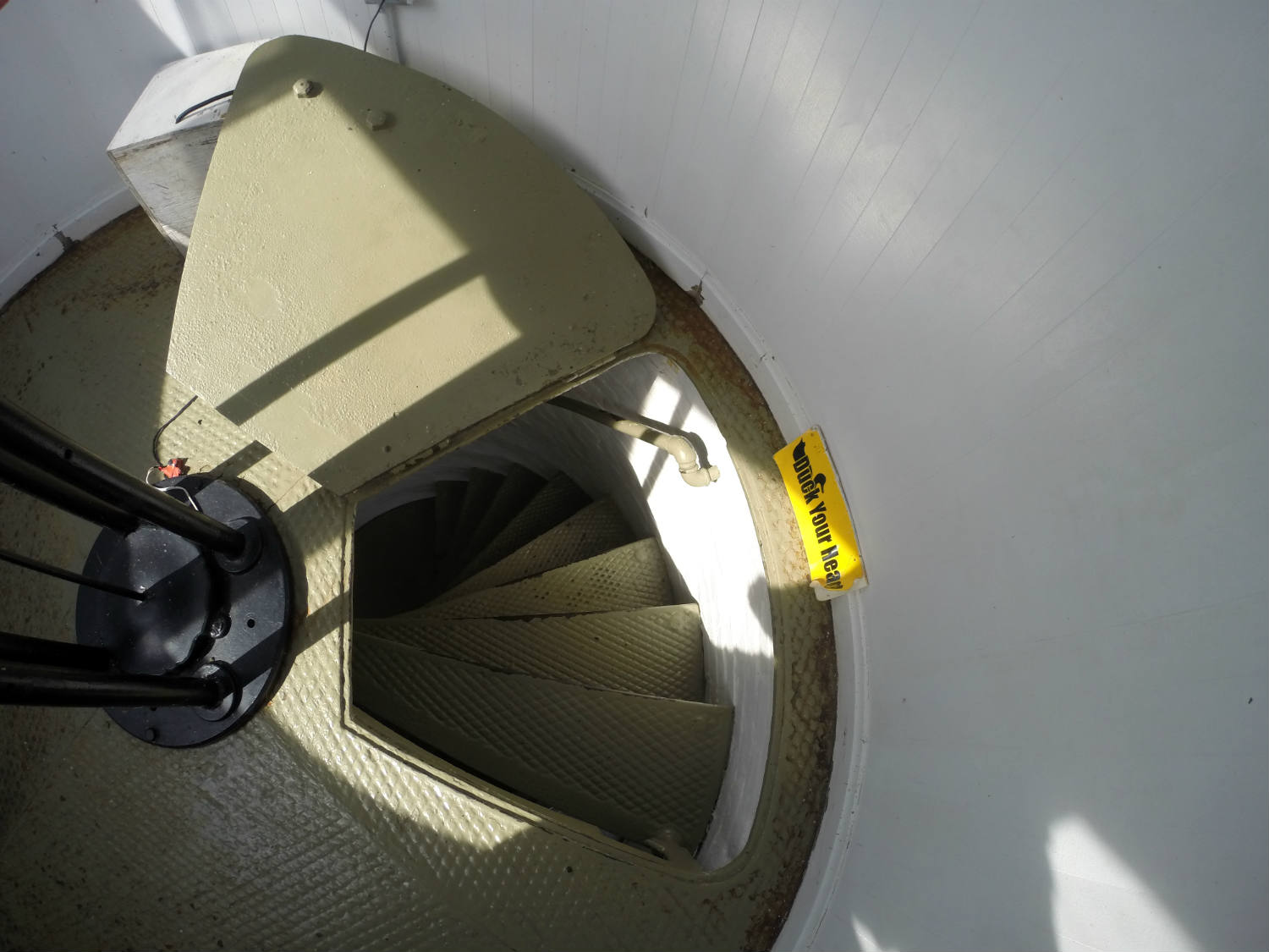 Looking Down the Staircase in the Sodus Bay Lighthouse Museum