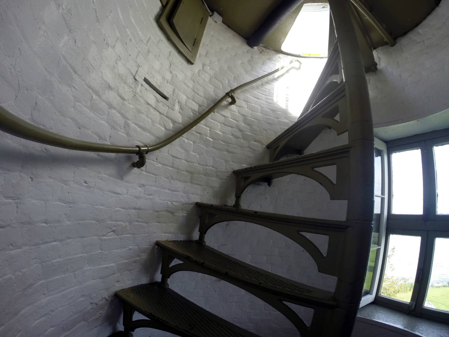 Staircase in the Sodus Bay Lighthouse Museum