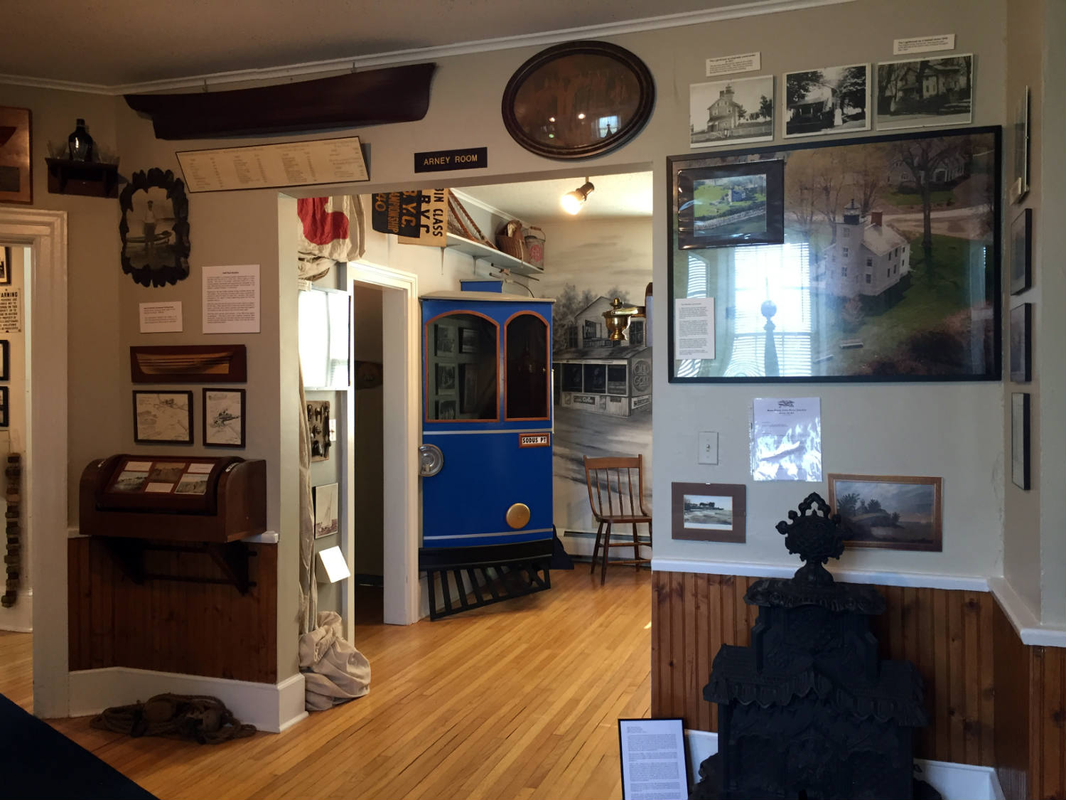 Displays at the Sodus Bay Lighthouse Museum