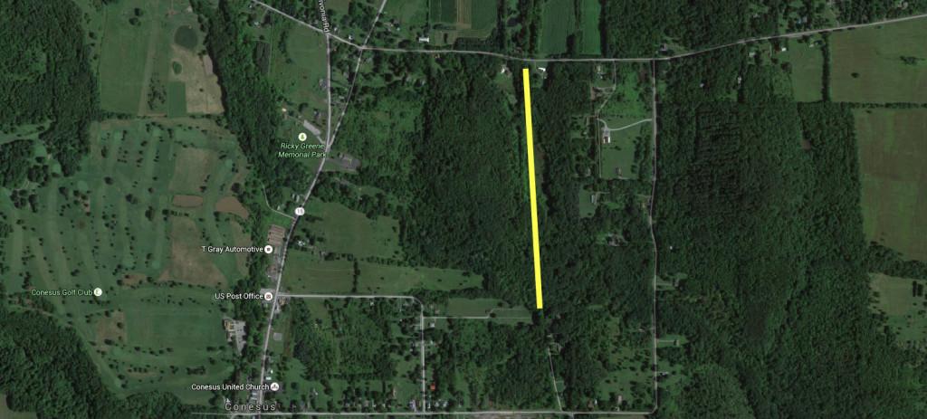 Conesus Railroad Bed Trail Map