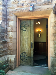 Entranceway at the Pullman Memorial Universalist Church in Albion