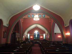 Sanctuary Inside the Pullman Memorial Universalist Church in Albion