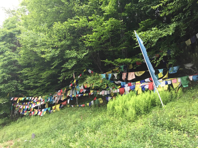 Prayer Flags at Karma Triyana Dharmachakra Buddhist Monastery in Woodstock, NY