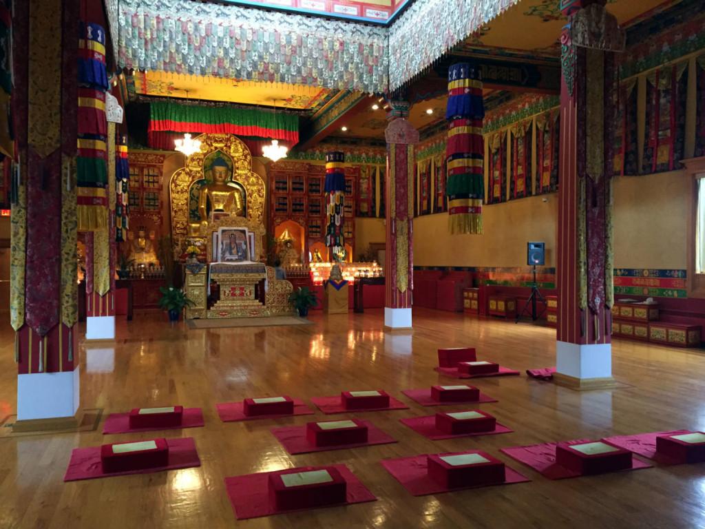 Shrine in Karma Triyana Dharmachakra Buddhist Monastery in Woodstock, NY