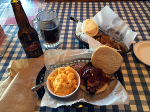 Lunch at Mark's Feed Store BBQ in Louisville, Kentucky
