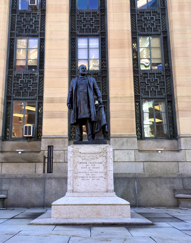 Grover Cleveland Statue Outside Buffalo City Hall