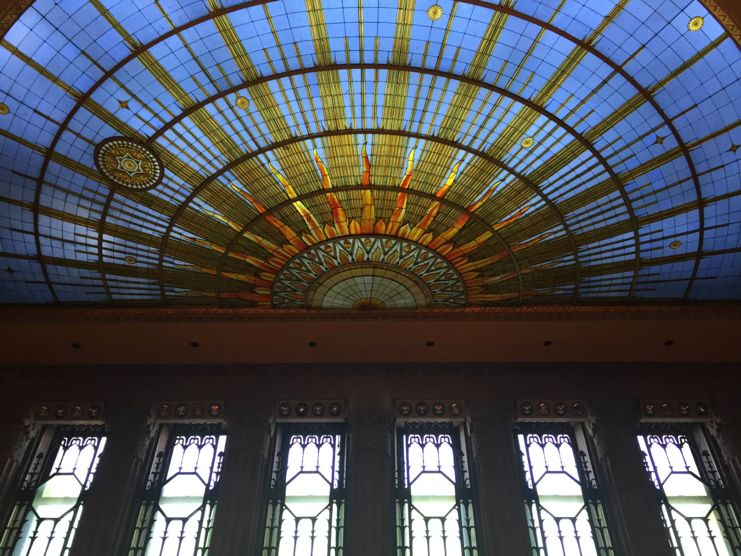 Stained Glass Ceiling in Council Chamber in Buffalo City Hall