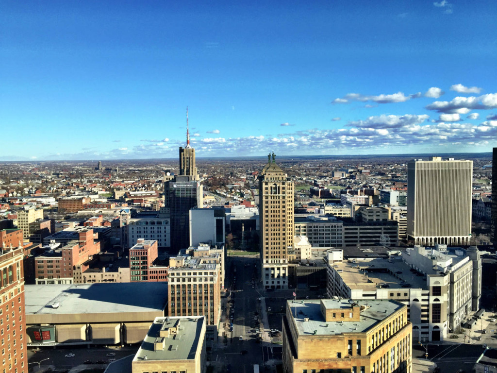 VIew of Horizon from Top Floor of Buffalo City Hall