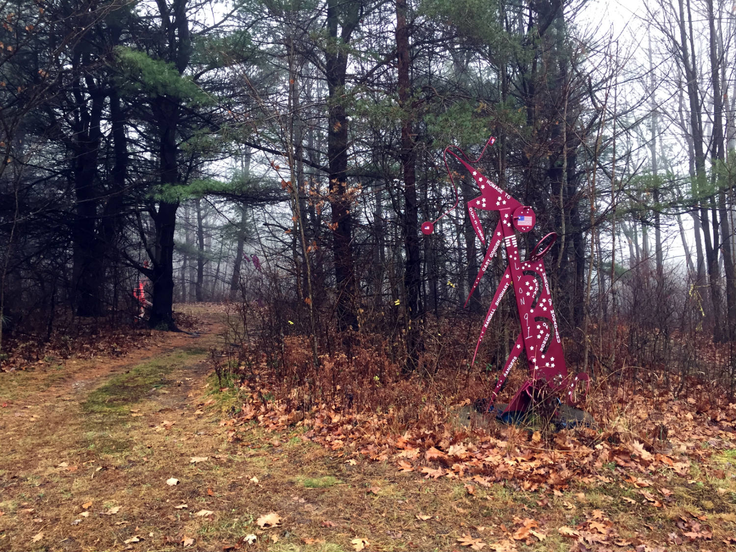 The C Lyon Sculpture Park in Horseheads, New York Military Sculpture