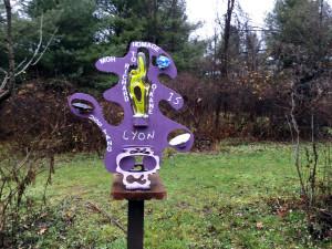The C Lyon Sculpture Park in Horseheads, New York Purple Sculpture