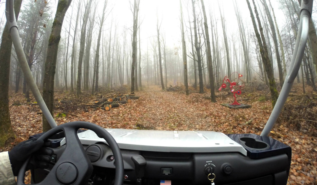 The C Lyon Sculpture Park in Horseheads, New York ATV with Path and Sculpture
